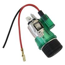 Acendedor Cigarro Isqueiro Gps Celular Carregador 12v Verde