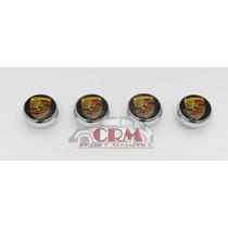 Botões Do Painel Fusca Com Logo Porsche - Kit 4 Peças