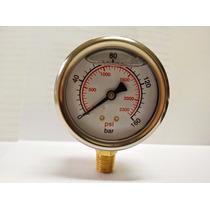 Manometro Pressão C/ Glicerina 160 Bar X 2320 Psi Inox