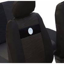 Capas Banco Em Tecido Original Preta Com Logo Da Volkswagen