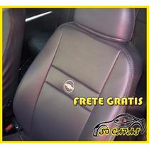 Capa De Banco Couro Ecologico Corsa Celta Prisma Com Logo Gm