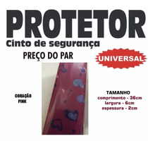 Capa Almofada Protetor Cinto Segurança Coração Pink Rosa