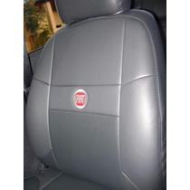 Capas De Couro Ecológico Com Logo Fiat P/ Uno Palio Siena