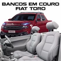 Acessórios Fiat Toro - Kit Capas Bancos Em Couro - 100% Toro