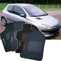 Tapete Carpete Personalizado Original - Peugeot 206 - Preto