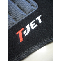Tapete Fiat Punto T-jet 2013/... Carpete Bordado Jogo 5 Pç