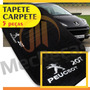 Tapete Carpete Personalizado Bordado Peugeot 207 + Para-sol
