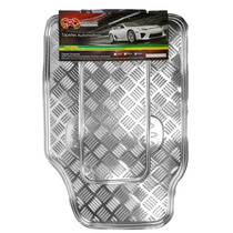 Tapete Automotivo Alumínio Cromado Cromado Carro Universal
