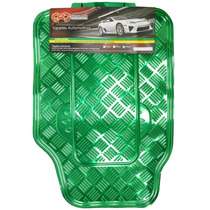 Tapete Automotivo Alumínio Cromado Verde Carro Universal