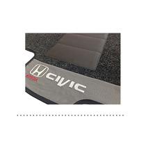 Tapete Carpete Honda Civic 2014 2015 Cinza Grafite - 03 Pçs
