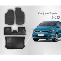 Tapete Fox 3pcs + Porta Malas Borracha Borcol