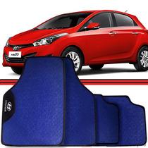 Jogo Tapete Automotivo Carro I30 Hb20 Azera Ix35 Azul