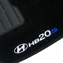 Tapete Hb20s 2013 Carpete Bordado Logo + Nome 5 Peças