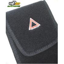 Porta Triangulo Encarpetado Universal Vários Carros Preto