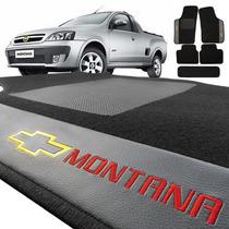 Jogo De Tapete Carpete Automotivo Bordado Chevrolet Montana