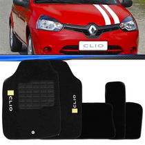 Tapete Renault Clio 2014 2013 14 13 Carpete Preto Bordado