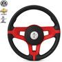 Volante Logo Mustang Esportivo Opala Vermelho+cubo
