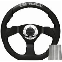 Volante Esportivo Shutt New Racing Couro + Cubo