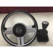 Combo Volante Sport + Bola Câmbio + Coifa Marcha Peugeot 206