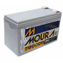 Bateria Moura 7ah 12 Volts - No Break/cerca Elétrica/alarme