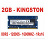 Memória 2gb Pc3l 12800s 1rx16 Kingston Ddr3 Notebook 1600mhz