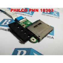 Placa Leds Leitor Cartão Memór Netbook Philco Phn 10303 Rosa