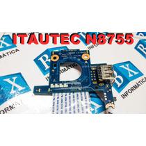 Placa Usb + Flat Itautec N8755 Ls-7662p
