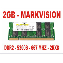 Memória 2gb 5300s Markvision Ddr2 Notebook 667mhz