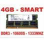 Memória 4gb 10600s Smart Ddr3 Notebook - Frete Grátis !