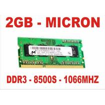 Memória 2gb 8500s Micron Ddr3 Macbook Pro A1278 1066mhz