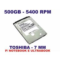 Hd 500gb Notebook Slim - 7mm Toshiba - Mq01abf050