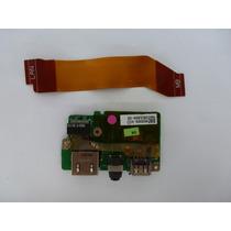 Placa Usb Rede Audio Toshiba M300 M305 M305d Com Flat