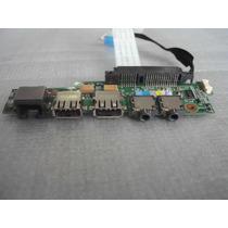 Placa Som + Usb + Rj45 Netbook Philco Phn 10a2 Usado