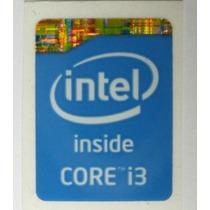 Adesivo Original Intel Core I3 4º Geração (azul) P/ Notebook