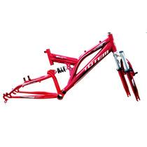 Quadro/garfo Aro 20 Full Suspension Aluminio Bicicleta