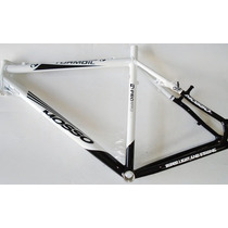Quadro Bicicleta 26 Mosso Turmoil Branco E Preto Tamanho 21