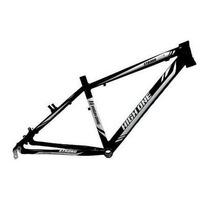 Quadro Bicicleta 26 Mtb High One Strong Preto Branco Tam 17