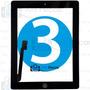 Tela Vidro Touch Ipad 3 + Home + Adesivo - A1403 A1416 A1430