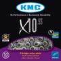 Corrente Kmc X10 10v 116 Links 280gr 20v 30v Shimano Sram
