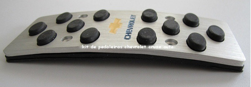 Pedaleiras Alumínio Chevrolet Cruze Auto 11~14 Descanso Pé