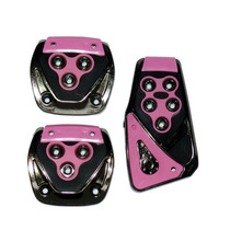 Pedaleiras Esportivas Automotivas Rosa Tuning Kit 3 Peças
