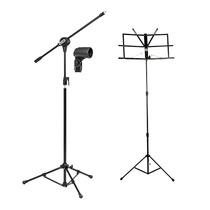 Pedestal Suporte Universal P/ Microfone + Estante Partitura