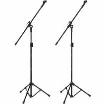 Kit 2 Pedestal Suporte Universal P/ Microfone Girafa