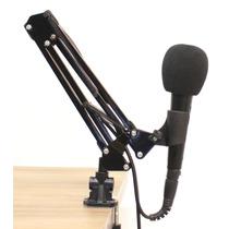 Pedestal (suporte) Articulado Profissional Para Microfone