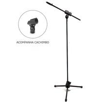Pedestal Suporte P/ Microfone Estante Girafa+cachimbo Oferta