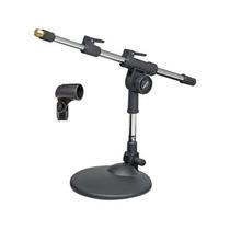 Pedestal Suporte De Mesa Para Microfone Mini Girafa Com Has