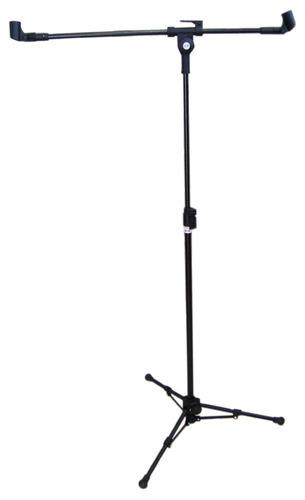 Pedestal Para 02 Microfones, Suporte Para 02 Microfones