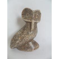 Coruja Corujinha Estatueta De Pedra Enfeite De Mesa