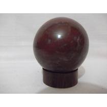B. Antigo - Esfera De Pedra Com Base De Madeira