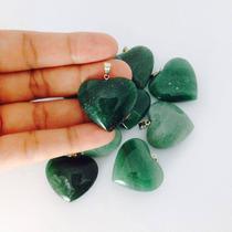 Pingente De Coração Varias Pedras Cristal Ametista Quatzo